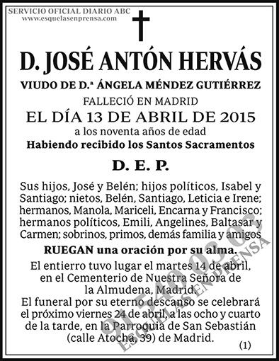 José Antón Hervás